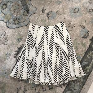 Club Monaco pleat print skirt